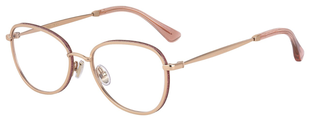 JIMMY CHOO (20) (S) JC229 EYR 54 18 GOLD PINK