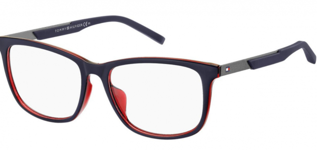 Rame ochelari de vedere Tommy Hilfiger (S) TH 1701/F 8RU 56 17 BLACK RED WHITE