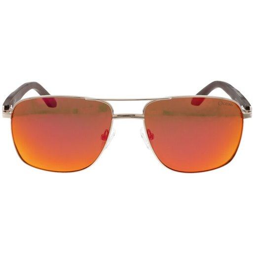SUN OCEAN (M) (20) M03 C1 GOLD BROWN WOODEN TEMPLE ORANGE LENS 56