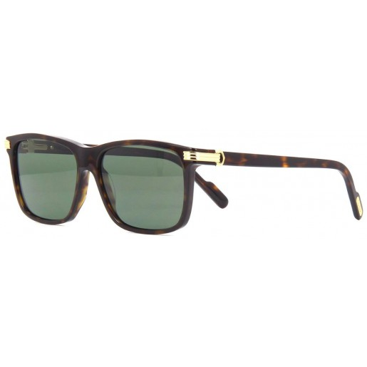 SUN CARTIER (19) CT0160S-001 57 BLACK BLACK GREY - havana - verde